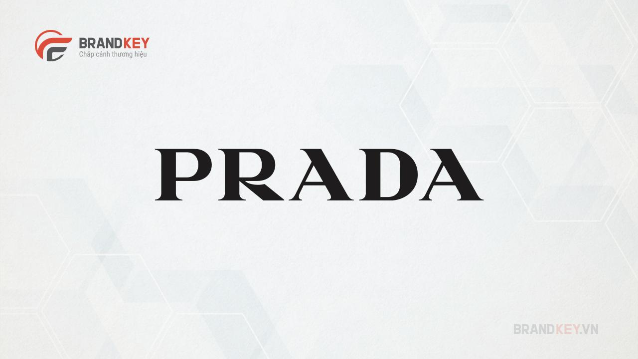 Logo của hãng thời trang nổi tiếng Prada